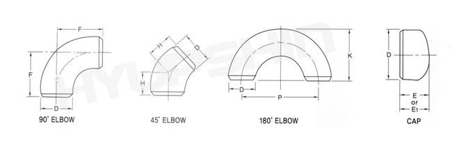 Supply ANSI ASME B16 9 Pipe Fittings, Elbow, Tee, Reducer